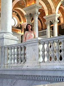 Kristen Murphy at the Library of Congress