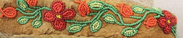 Moccasin beadwork