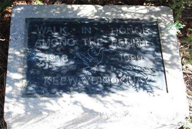 Keewaydinoquay Peschel Memorial Plaque