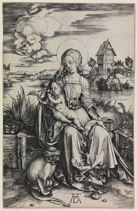 Albrecht Durer, Madonna with Monkey