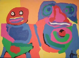 Karel Appel, Deux Amies, 1971