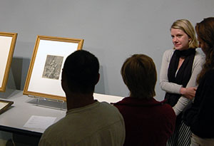 Art History 102 Visits the UWM Art History Gallery