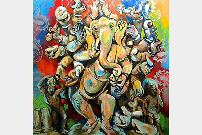 Twenty-Armed Dancing Ganesha, 2015