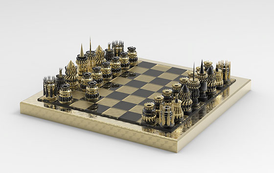 UWM Digital Fabrication & Design Chess Set