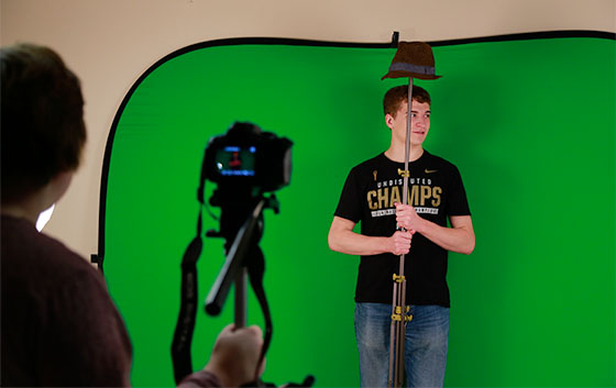 UWM Digital Studio Practice Green Screen