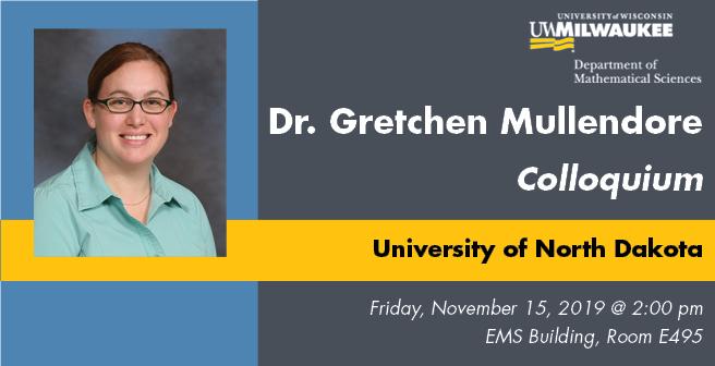 Dr. Gretchen Mullendore Colloquium Flyer