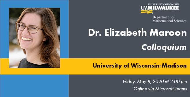 Dr. Elizabeth Maroon Colloquium Flyer
