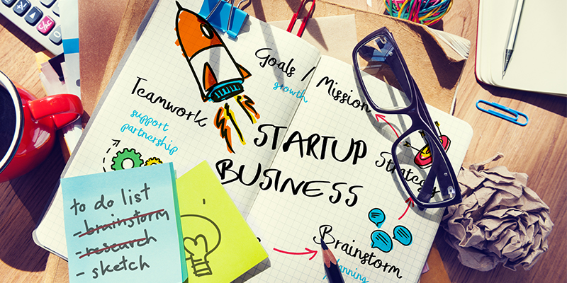Startup business graphic