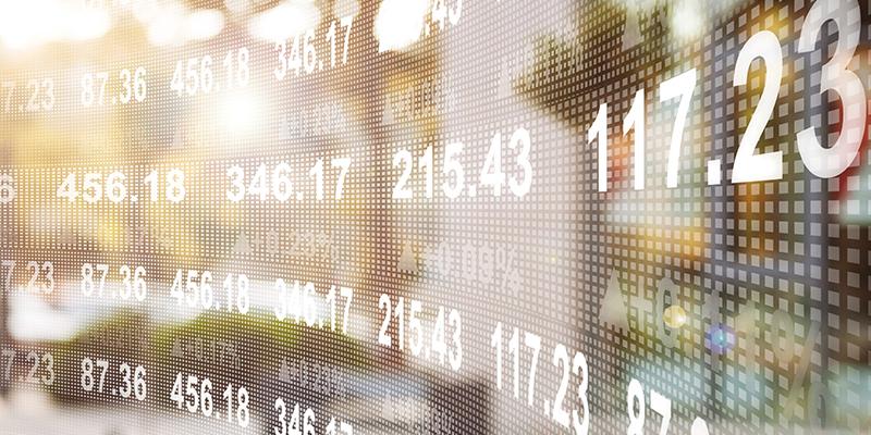 Computer screen showing financial data