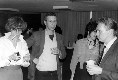 From left to right: Patricia Mellencamp, Dick Blau, Jane Gallop, Jon Erickson