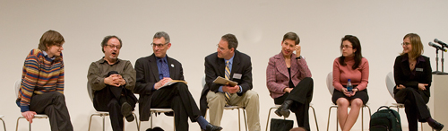 photo of panelists at Picturing the Modern symposium