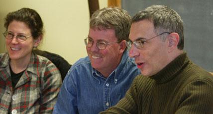 photo of Joan Dobkin, David Allen, and Daniel J. Sherman