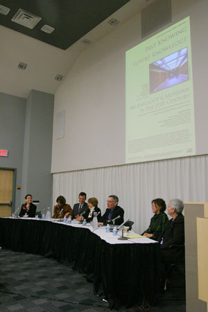 photo of panelists at Past Knowing / Future Knowledge symposium