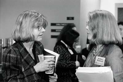 photo of Susan Miller and Kathleen Woodward