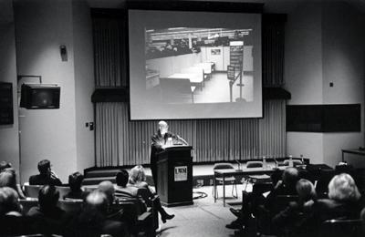 photo of Doug Ashford presentation