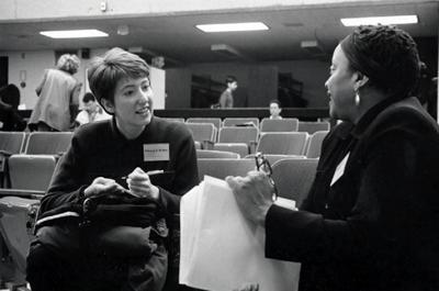 photo of Rebecca J. DeRoo and Deborah Willis