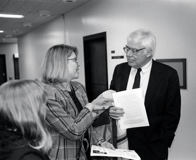 Center Director Kathleen Woodward and Richard Rorty