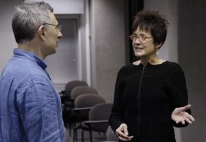 Center director Daniel Sherman and Gwendolyn Wright