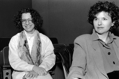 photo of Connie Ballides and Lynne Worshaw