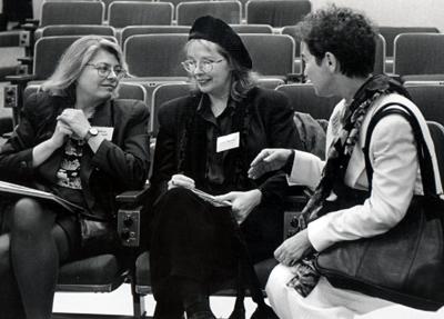 photo of Kathleen Woodward, Teresa Brennan, and Margaret Morganroth Gullette