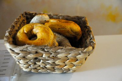 Bagels in a basket