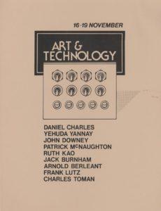 Art & Technology Workshop Fall 77 Flyer