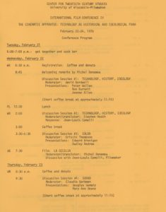 Film Conference IV program page 1
