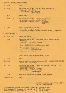 Film Conference IV program page 2
