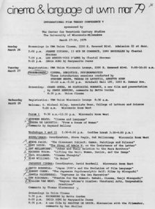 Film Theory Conference V Program page 1