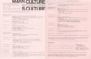 Mass Culture Conference Program