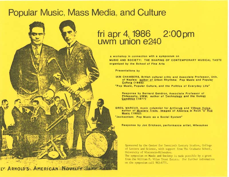 Popular Music, Mass Media, and Culture