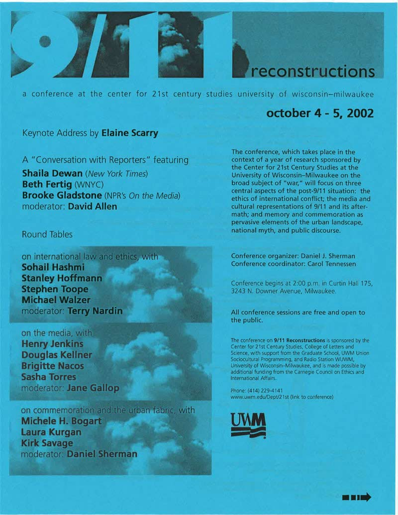 Conference: 9/11 Reconstructions, Commemoration and the Urban Fabric