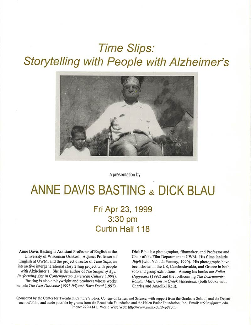 Anne Davis Basting and Dick Blau