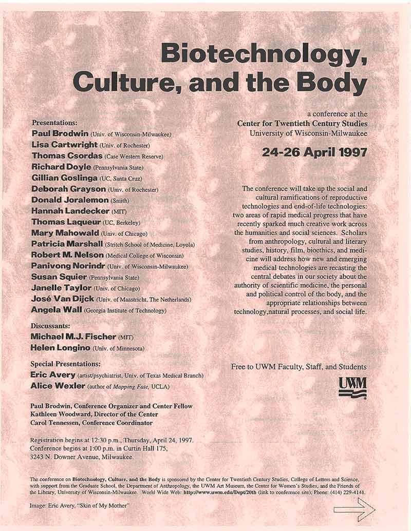 Conference: Biotechnology, Culture, and the Body