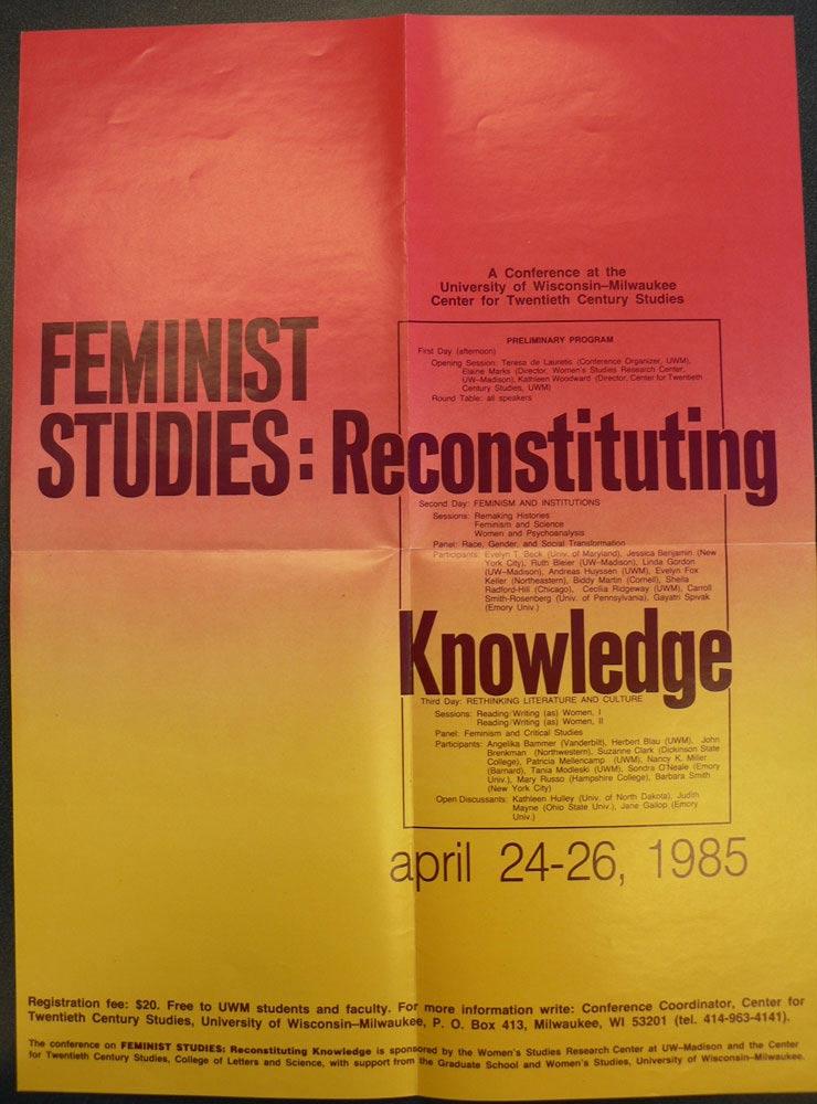 Conference: Feminist Studies: Reconstituting Knowledge