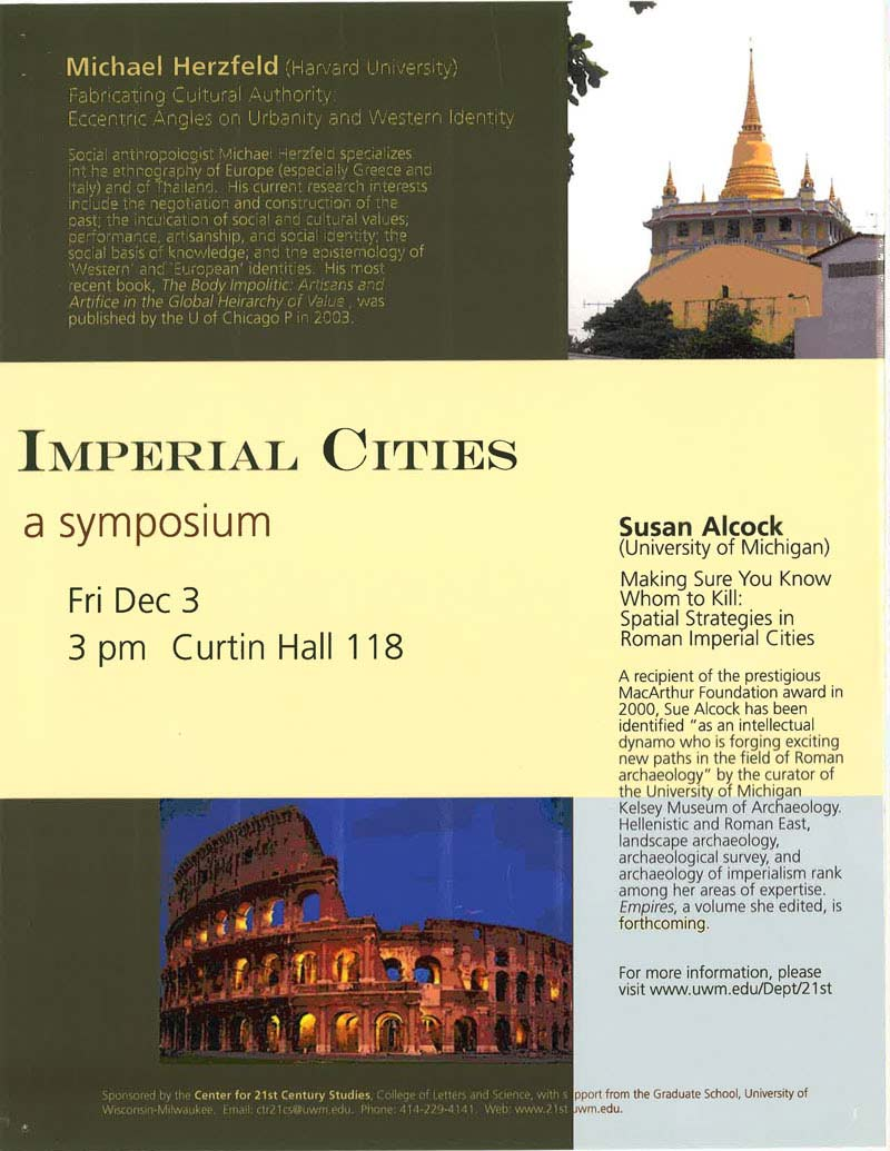 Symposium: Imperial Cities