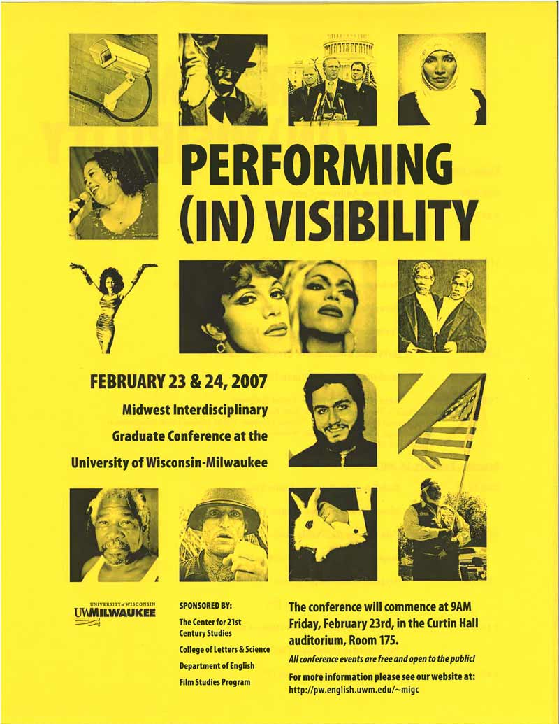 Performing (In)Visibility