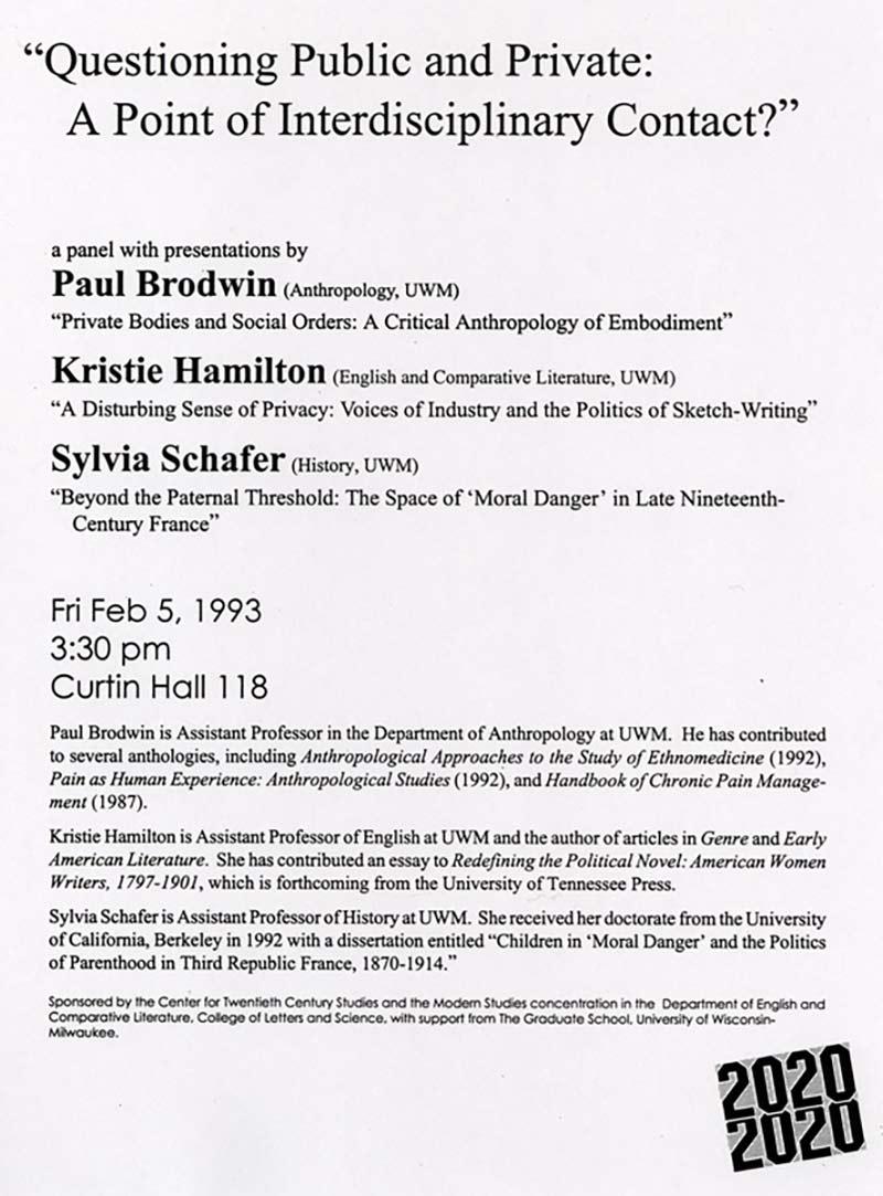 Paul Brodwin, Kristie Hamilton, and Sylvia Schafer