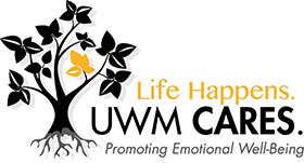 Life Happens UWM Cares Logo