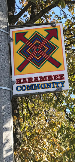 Harambee Community signage