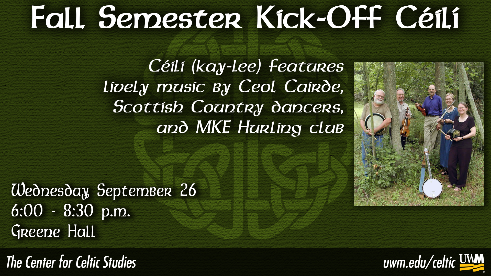 Center for Celtic Studies Fall Semester Kick-Off image