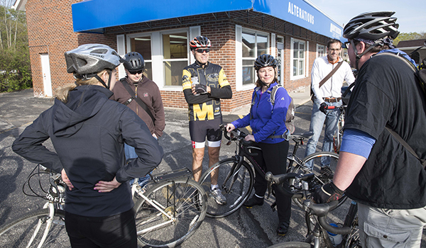 Chancellor Mone leads Bike To Work