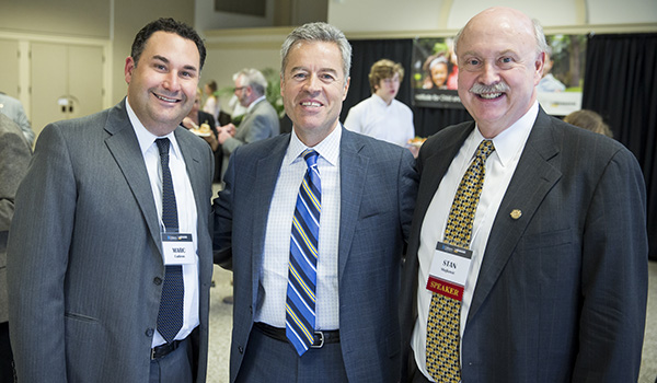 Chancellor, Stan Stojokovic and Marc Cadieux