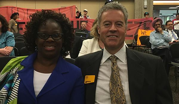 Chancellor Mone with Rosetta Washington