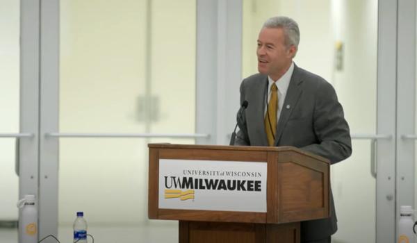 UWM Chancellor Mark Mone addresses UW-System Board of Regents