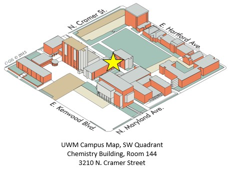 UWM Campus Map, SW Quadrant, Chemistry
