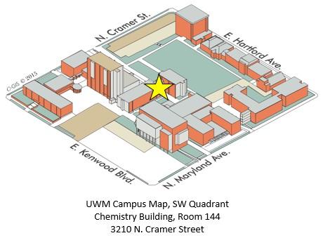 UWM Campus Map, SW Quadrant, Chemistry