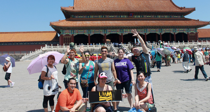 UWM Study Abroad Students in China