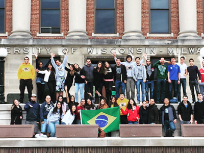 BSMP Students at UWM display their flag