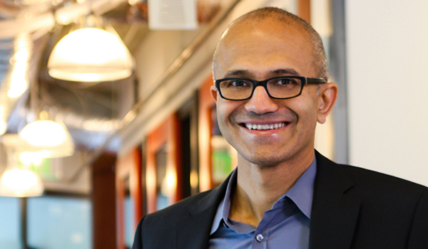 photo of Satya Nadella, Microsoft CEO & UWM Alum ('90 MS Computer Science)